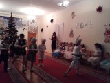 Танец зайчат Новогодний утреник 2013 г.